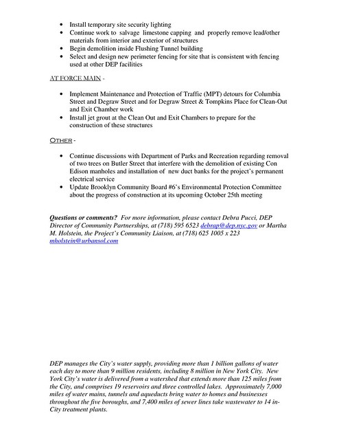 page 2 2010-08 DEP Gowanus Facility Upgrade Update
