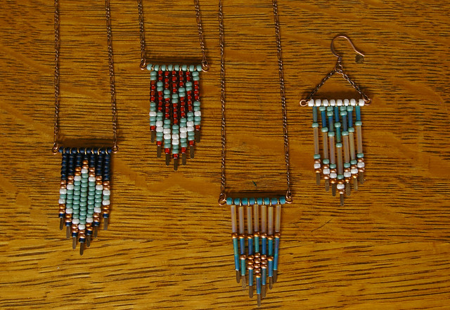 new leotie necklaces and earrings