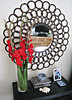 cirlcles mirror+large round mirror+accent mirror+decorating ideas