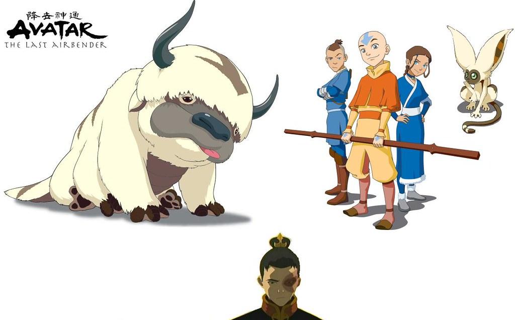 Avatar The Last Airbender Wallpaper HBP12 Tags Momo Ang Katara