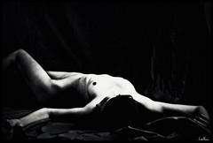 Caelia 2 (BGHK [booga hellka metalheart]) Tags: she bw white black art girl pose 50mm noir nu femme babe nb sensual corps corp fille blanc emotive nue artistique sensuelle virga caelia emototion