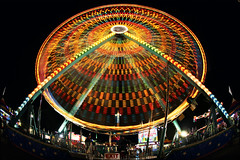 minnesota state fair rides (Dan Anderson.) Tags: park longexposure carnival light night amusement ride statefair stpaul minneapolis fair fisheye slowshutter ferriswheel rides twincities midway saintpaul attraction minnesotastatefair slowmotion mnstatefair mightymidway weirdmn
