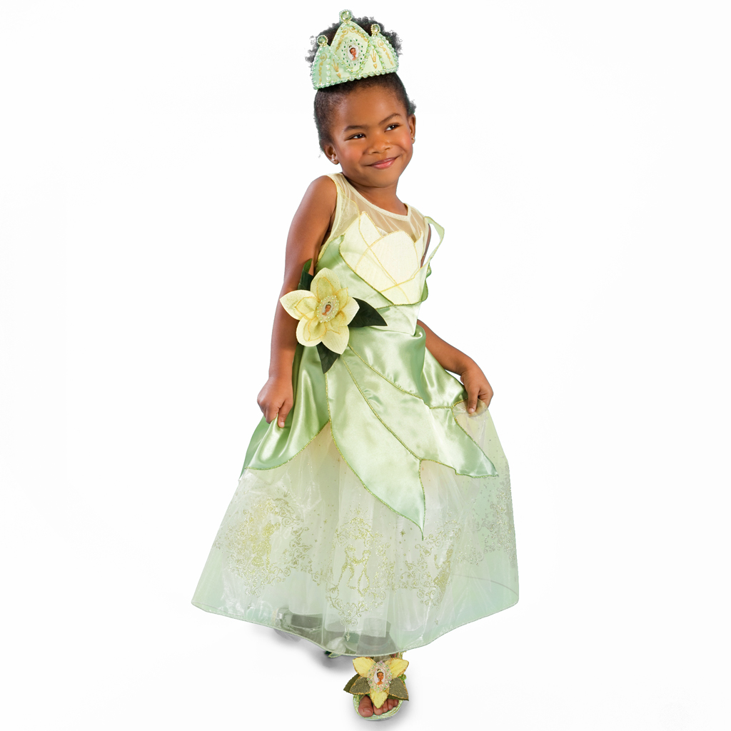 Princess Tiana Dress: Halloween 2010, Part 1: Disney Store Kids Costumes