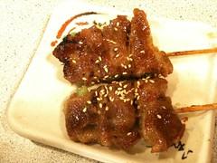 五花肉串燒