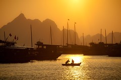 Light of Vietnam (Dan Ballard Photography) Tags: world travel favorite orange dan photography boat fishing asia gallery great free best vietnam prints ballard portfolio halongbay forsell