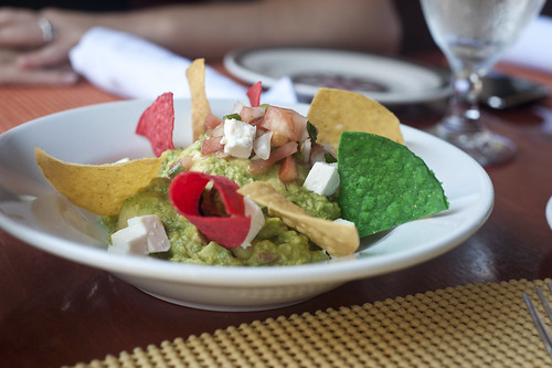 Guacamole with. . .mozzarella? at La Fiesta