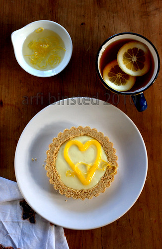 Lemon Curd Cheesecake Tartlet
