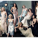 (left to right) Hollywood actresses Julianne MOORE, Jennifer CONNELLY, Gwyneth PALTROW, Naomi WATTS, Salma HAYEK, Jennifer ANISTON, Kirsten DUNST, Diane LANE, Lucy LIU, Hilary SWANK, Alison LOHMAN, Scarlett JOHANSSON, and Maggie GYLLENHAAL, on Stage II of