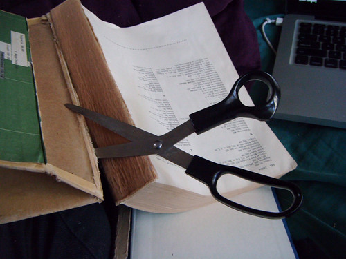 cutting up a book