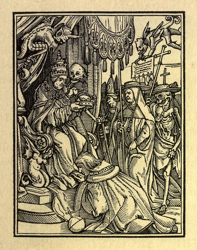 007-El papa-The Dance of death…1833-Hans Holbein