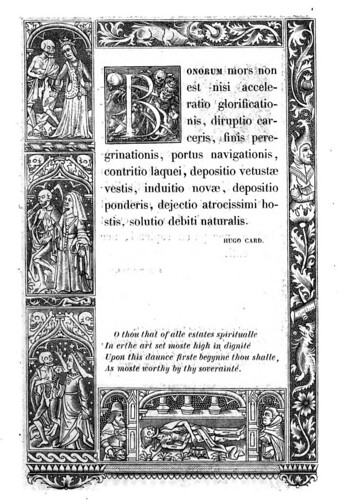 013-Letra B -The celebrated Hans Holbein's alphabet of death, illustr. with old borders ...1856