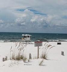 Pensacola Beach (James Rhymes) Tags: shells beach water seashells sunsets lifeguard beaches sunrises whitesand panaramic seaoats murial beachscenes beachsands