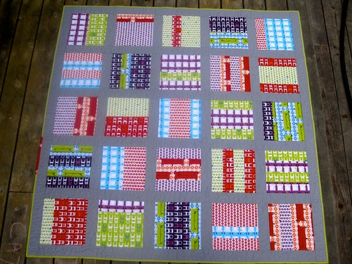 Tufted Tweets quilt front