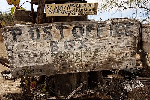 Post office on Floreana Island