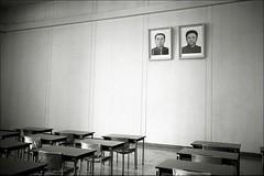 kimology #12 (quixotic54) Tags: leica film 35mm fuji kim classroom desk north korea kimjongil summicron 400 neopan mp coolscan asph northkorea 9000 dearleader pyongyang xtol dprk fujineopan400 greatleader leicamp kimilsung ilsung jongil autaut leicasummicron35mmf20asph nikonsupercoolscan9000ed kimology
