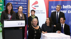 Community and Public Sector Union Pledge Signi...