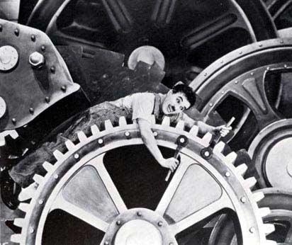 "Charlie Chaplin, ""Modern Times"""