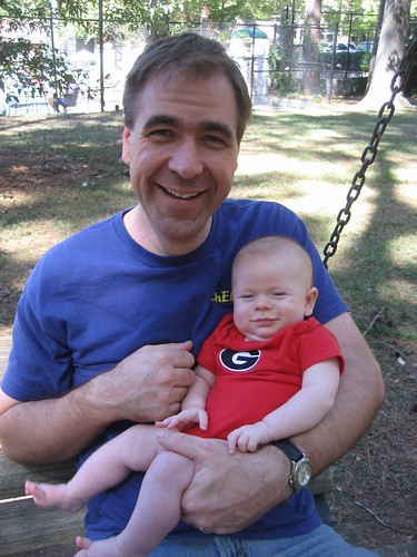 Daddy and Theo at the playground