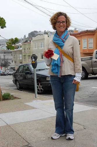 Lexi holding poppies