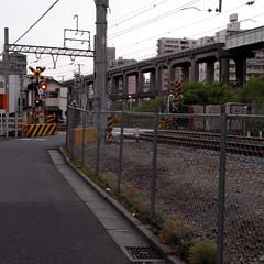 Kameido Railroad Crossing01