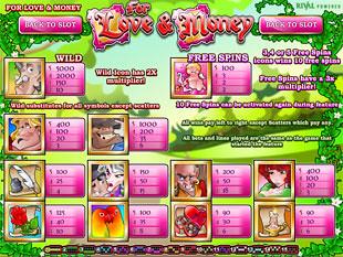 free Love and Money slot mini symbol