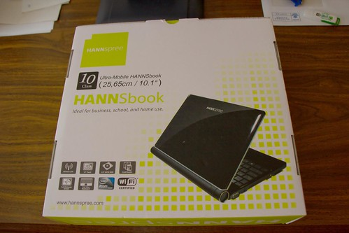 Unboxing Hannspree Hannsbook