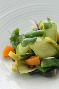 Mirazur bean salad