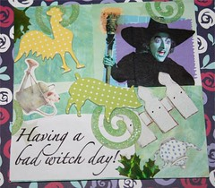 "Bad Witch 4"" x 4"" Collage"