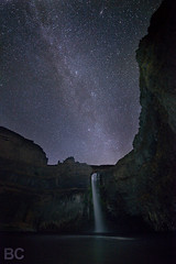 Palouse Falls PM (Ben Canales) Tags: night dark stars star evening waterfall washington twilight falls galaxy waterfalls wa universe starry cosmos milkyway palouse canales palousefalls sewashington Astrometrydotnet:status=failed bencanales thestartrail wwwthestartrailcom Astrometrydotnet:id=alpha20100961644804