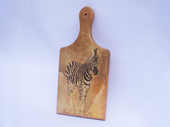 "Cutting board with zebra ""Africa"""