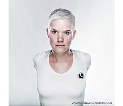 N. (Ronaldkoster.com) Tags: portrait strange female hair ronald arms no blond short unreal koster bowens profoto elinchrom sekonic l358