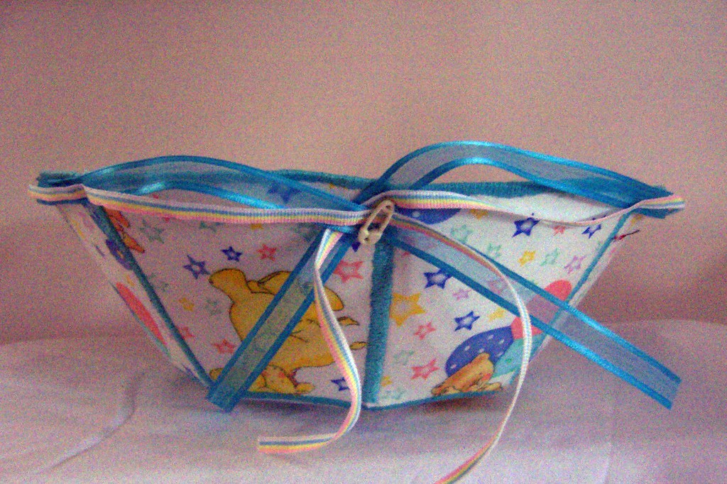 fabric bowl for the nursery