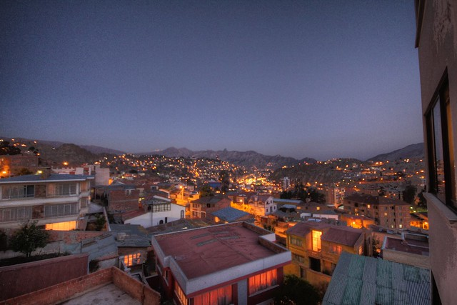 View from the kitchen at Casa Alianza, Obrajes (La Paz) hdr