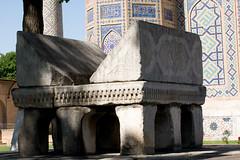 Bibi-Khanym Mosque (   ) and Mausoleum, , Samarkand (Samarqand, , ), Uzbekistan (Ozbekiston, ) (Loc BROHARD) Tags: heritage persian asia madrasah minaret islam silk mosaics persia mosque unesco mausoleum cupola bazaar calligraphy uzbekistan samarkand madrassa registan timur mosque perse turkic samarqand caravanserai  madrasa uzbek calligraphie majolica medrese world madarsa great medresa tamerlane  ouzbkistan central madraza  samarcande road tamburlaine mdersa anawesomeshot silk  ulughbeg rukhobod union earthasia site madarasaa empire ozbekiston soviet ozbekstan asia  maracanda semerkant persian ruhabad samanid timurid sherdor tilyakori hazrat hizr bibikhanym