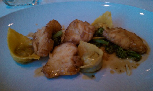 Halibut cheeks and short rib tortellini