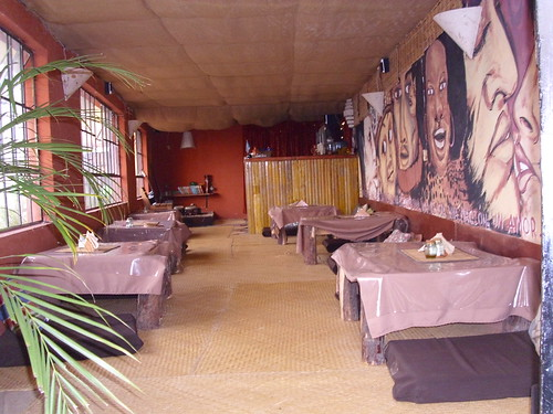 Cafe Tables and Guatemalan Music Concert Area