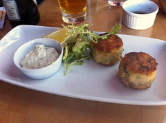 Salmon & smoked haddock fishcakes at Skippers Seafood Bistro, Edinburgh