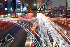 Assail Trail (spiraldelight) Tags: urban japan tokyo stream cityscape traffic shibuya shift explore    traffictrails lighttrail lightstream eos5dmkii tse17mmf4l spiraldelight trrails