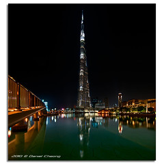 Burj Khalifa :: The Dark Hour (DanielKHC) Tags: bridge night digital reflections dark 1 interestingness high nikon long exposure dubai dynamic uae explore khalifa range fp frontpage dri hdr burj blending d300 danielcheong danielkhc tokina1116mmf28 gettyimagesmeandafrica1