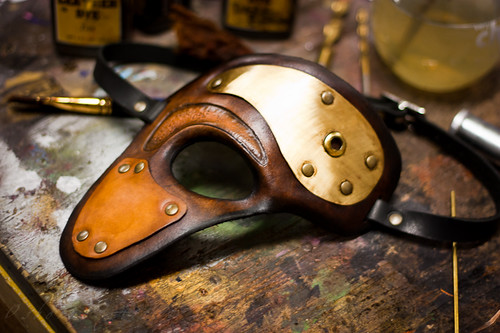 Steampunk Phantom Handmade Leather Mask