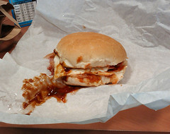 Square Pie Bacon and Egg Bap