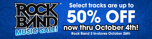 Rock Band PSN DLC sale