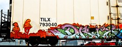 Drix (mightyquinninwky) Tags: railroad train graffiti character tag graf tracks railway tags tagged railcar rails characters graff graphiti freight bnsf reefer vd trainart fr8 railart burlingtonnorthernsantafe spraypaintart drix freightcar mushroompeople coldcar freightart tilx paintedreefer reeferart paintedrailcar taggedreefer taggedrailcar coldfreight 11223344556677 carfireonflickr charactersformyspacestation