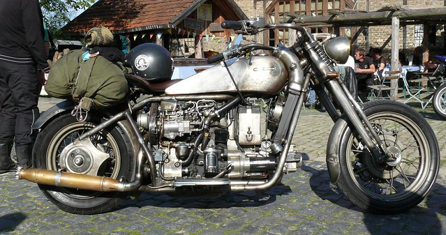 Handmade VW diesel engine based motorcyle r