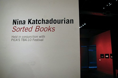 Nina Katchadourian: Sorted Books: TBA10: On Sight