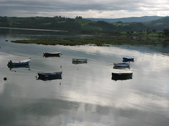 Boats in grey (MrAchab) Tags: espaa river boat spain barca fiume cantabria sanvicentedelabarquera challengeyouwinner flickrchallengegroup friendlychallenges thechallengefactory ringexcellence dblringexcellence