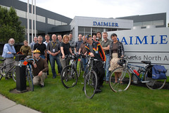 Bike commuters at Daimler Trucks on Swan Island-7