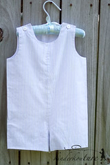 Boys Blue and White Stripe Romper