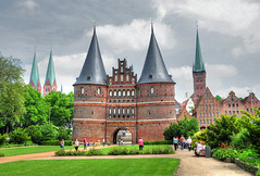 Holsten Tor Lbeck (Habub3) Tags: city travel houses vacation panorama holiday castle church beautiful architecture buildings