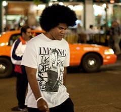 Huge Fro (San Diego Shooter) Tags: sandiego afro streetphotography fro downtownsandiego bigafro sandiegonightlife sandiegopeople sandiegostreetphotography gaslampquartersandiego